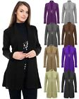 New Ladies Womens Knitted Boyfriend Brooched Cardigan Waterfall Dress Top Jumper