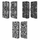 HEAD CASE DESIGNS BLACK LACE LEATHER BOOK WALLET CASE COVER FOR HTC PHONES 1