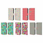 HEAD CASE DESIGNS HEART PATTERN LEATHER BOOK WALLET CASE FOR APPLE iPOD TOUCH