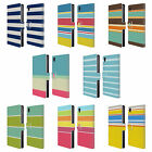 HEAD CASE DESIGNS STRIPES COLLECTION LEATHER BOOK WALLET CASE FOR SONY PHONES 1