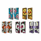 HEAD CASE DESIGNS FLORID OF SKULLS LEATHER BOOK WALLET CASE FOR SONY PHONES 1