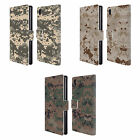 HEAD CASE DESIGNS MILITARY CAMO 2 LEATHER BOOK WALLET CASE FOR SONY PHONES 1