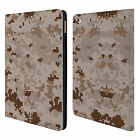 HEAD CASE DESIGNS MILITARY CAMO 2 LEATHER BOOK WALLET CASE COVER FOR APPLE iPAD