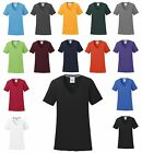 WOMEN'S SHORT SLEEVE, V-NECK, WICKING, COTTON FEEL T-SHIRT, XS S M L XL 2X 3X 4X