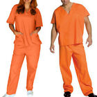 Kyпить Orange Prisoner Scrub Convict Inmate Jail Unisex set Top and Pants For Halloween на еВаy.соm