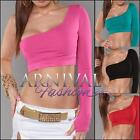 NEW SEXY one arm CROPPED TOP size XS S M L WOMEN'S CROP SHIRT online boutique
