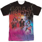 Kiss Colored Smoke Sublimation Licensed Adult Shirt S-3XL