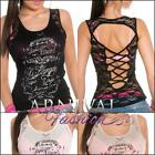 NEW SEXY LADIES SLEEVELESS SUMMER TOPS online shop XS S M L WOMEN'S TATTOO SHIRT