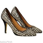 H&M Isabel Marant New Suede Leather High Heel Silver Beaded Court Shoes EU 36 37