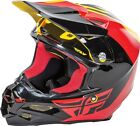 NEW FLY RACING F2 PURE CARBON ECE MX DIRT BIKE HELMET YELLOW/BLACK/RED ALL SIZES