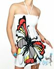 Sexy White Butterfly Summer Casual Clubwear Dress M-XL