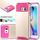 SLIM HYBRID SHOCKPROOF RUGGED RUBBER HARD CASE FOR SAMSUNG GALAXY S6 EDGE PLUS+