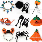Halloween Flash Light Fun Pumpkin Hat Glasses Mask Spider Skull Party Wear decor