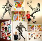 FOOTBALL SOCCER SPORT BASKETBALL SKATER KIDS BOYS WALL FURNITURE STICKERS DECALS