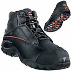 Metal-Free Leather Safety Boots Slip-Resistant Sole, Airport-Safe