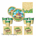 Jungle Boys Girls First & Second 1st 2nd Birthday Party Tableware Plates Cups
