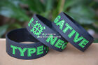 """Type O Negative Silicone 1"""" Wide Filled in Colour Debossed Wristband Bracelet"""