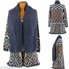 Cardigan Long Vest Wool Ethnic Blue Jeans - JOSSELIN - Woman - CharlesElie94