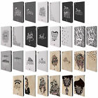 HEAD CASE DESIGNS HAND DRAWN TYPOGRAPHY LEATHER BOOK WALLET CASE FOR APPLE iPAD