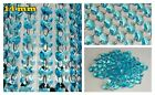 TEAL or BLUE CHANDELIER CUT GLASS CRYSTALS DROPS DROPLETS BEADS RETRO LIGHT PART