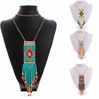 Fashion Womens Tassel Chain Charm Necklace Bohemian Pendant Bib Statement collar