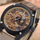 CURREN Military Camouflage Men's Leather Strap Stainless Steel Sport Wrist Watch