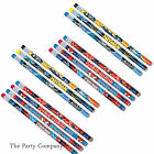 Batman & Spiderman Superhero Boys Birthday Party Bag Loot Bag Fillers Pencils