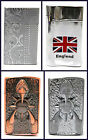 Claw Swirl England Chrome Metal Windpfoof Lighter Jet Turbo Flame New 4 Designs