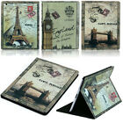 Vintage 360 Rotating Folio Book Stand Smart Leather Case Cover For iPad 2 3 4