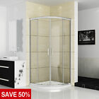 Quadrant Shower Enclosure Walk In Corner Cubicle Glass Screen Door+Stone Tray GG