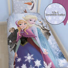 Disney Frozen Glacial Lilac Pink Girls Kids Duvet Quilt Cover Bedding Set