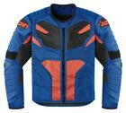 Icon Overlord Resistance Mens Textile Jacket Blue/Orange