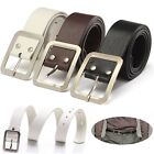 Fashion Men's Leather Belt Women's Casual Pin Button Waist Strap Belts Waistband