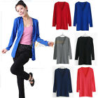 New Womens Lady Casual Long Knitwear Cardigan Shirt Coat Jacket Sweater Clothing
