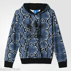 New Adidas Originals Women Snake All-over Print Hoodie Hooded Sweater XS S M L