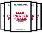New 61x91.5cm Satin Black Wooden Maxi Poster Frame 5 Pack