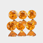 1.8mm Lot 6,10,20,50,100pcs Round Cut Calibrated Size Natural Orange SAPPHIRE