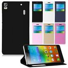 Luxury Leather Window View Flip Smart Stand Case Cover Skin For Lenovo A7000