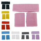 "1Set 3Pc ""COLOR"" CHOICE Sweatband Headband Wristbands for Sport Tennis Badminton"
