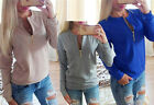 Fashion Women Sexy Slim Long Sleeve Tops Blouse Sweater Lady BOHO Sweatshirt new