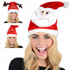 Adult Animated Musical Singing Moving Dancing Christmas Xmas Novelty Santa Hat