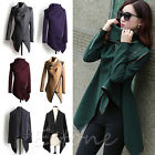 Women's Warm Wool Slim Long Trench Parka Peacoat Outwear Coat Overcoat Jacket