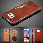 Genuine Leather Case Cover Card Protective For Samsung Galaxy Note5 S6 edge Plus