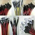 12V Wired 3/4.8/5/8/10mm LED Light White,Warm White,Red,Blue,Green,Amber,UV,Pink