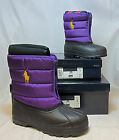 POLO RALPH LAUREN VANCOUVER Zip Snow Boots - PURPLE • NIB • Multi-sizes