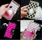 Colorful Elegant Bling Crystal Diamond Wallet PU Leathe For Asus Zenfone