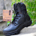 Mens Fashion Leather Combat Army Shoes Military Ankle Boots Mens 2 Colors JR