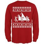 Mummy Pyramid Ugly Christmas Sweater Red Adult Long Sleeve T-Shirt