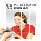 "SELF ADHESIVE MIRROR TILES 6"" x 6"" (SET OF 20)"