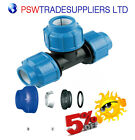 MDPE   Tee 90° Compression Fitting Various Sizes for Water Pipe 20mm - 50mm